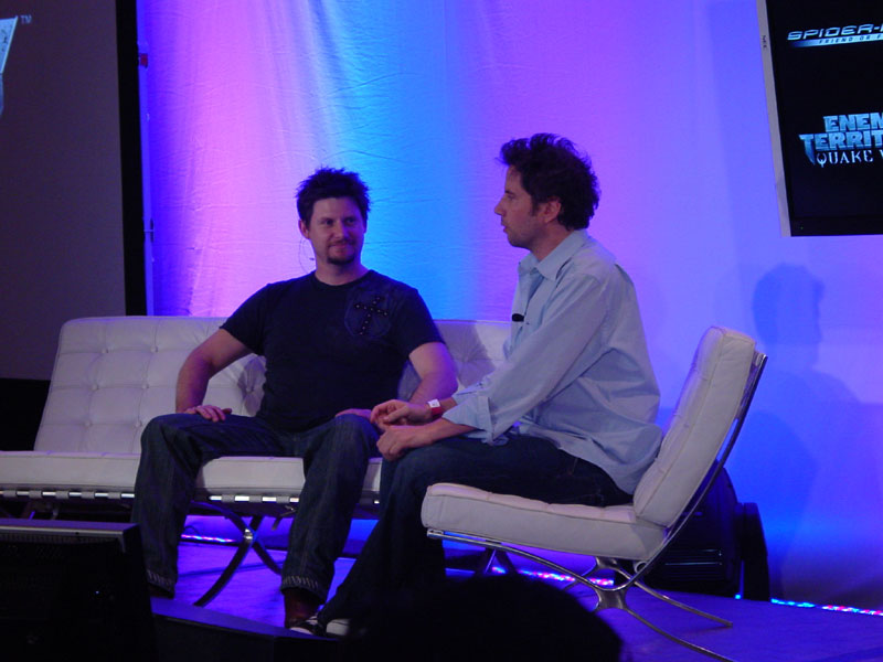 Kennedy on the couch with yet another developer, this time Paul Westwood.