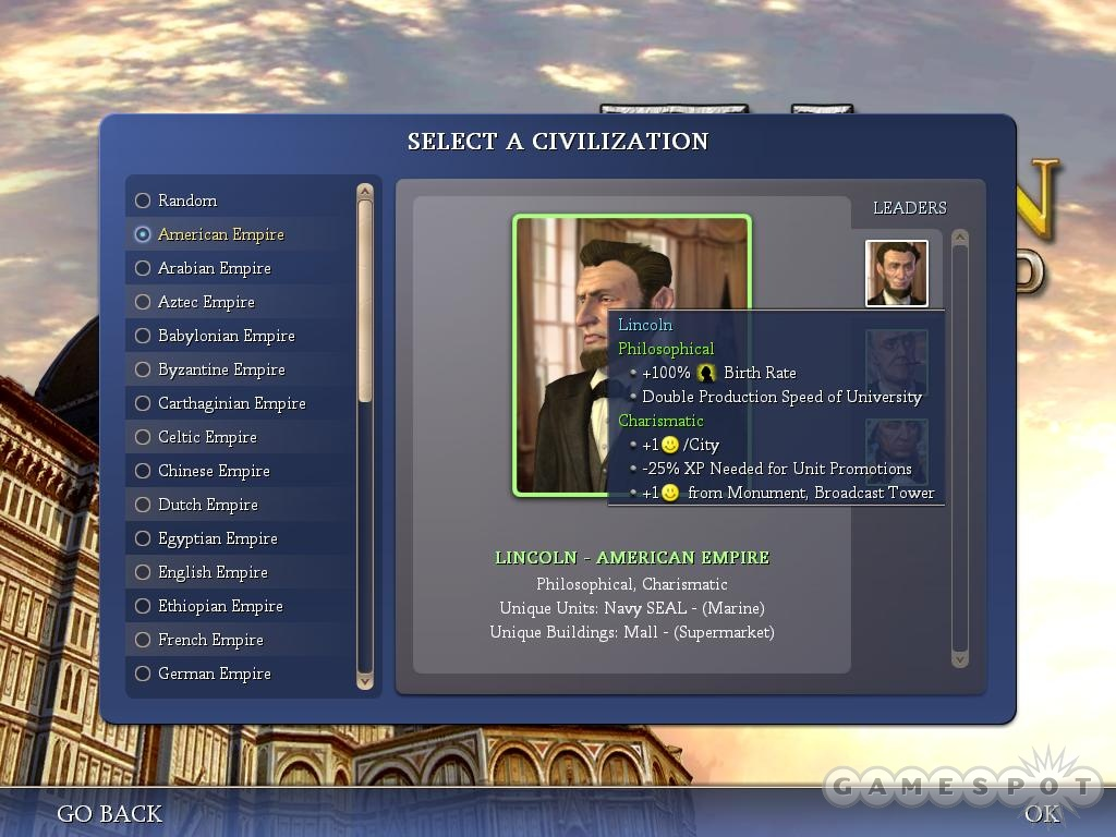 This great expansion pack brings back The Great Emancipator with new traits and abilities.