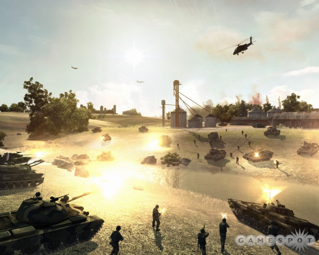 Command US and NATO units in battle. You can play as the Red Army in multiplayer.