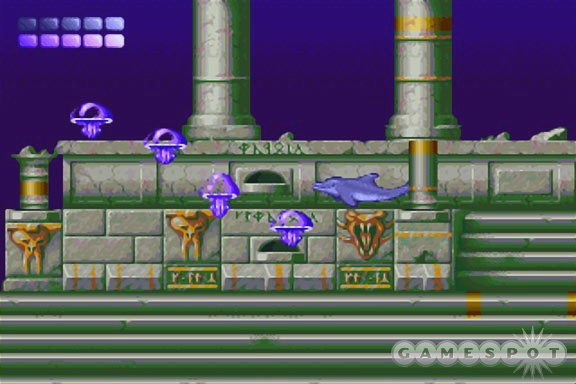 You should steer clear of jellyfish, or, better yet, ram them with Ecco's nose.