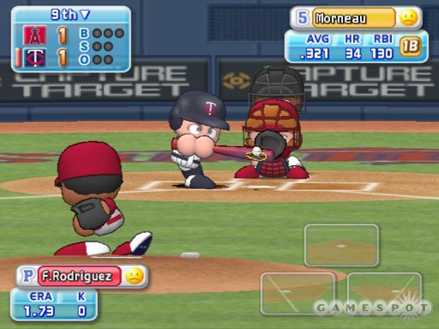 Big heads, big eyes, no legs: Konami's Power Pro series finally gets the MLB makeover.