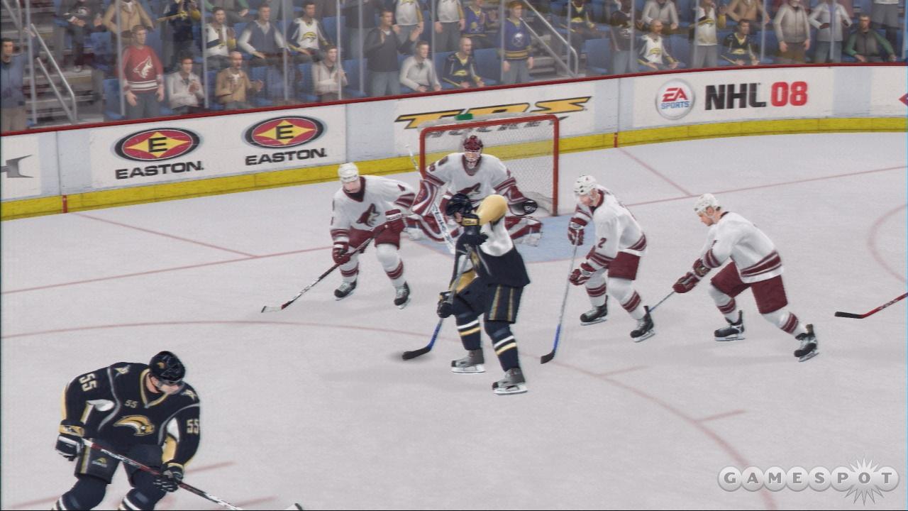 EA-branded hockey takes a big leap forward in NHL 08.