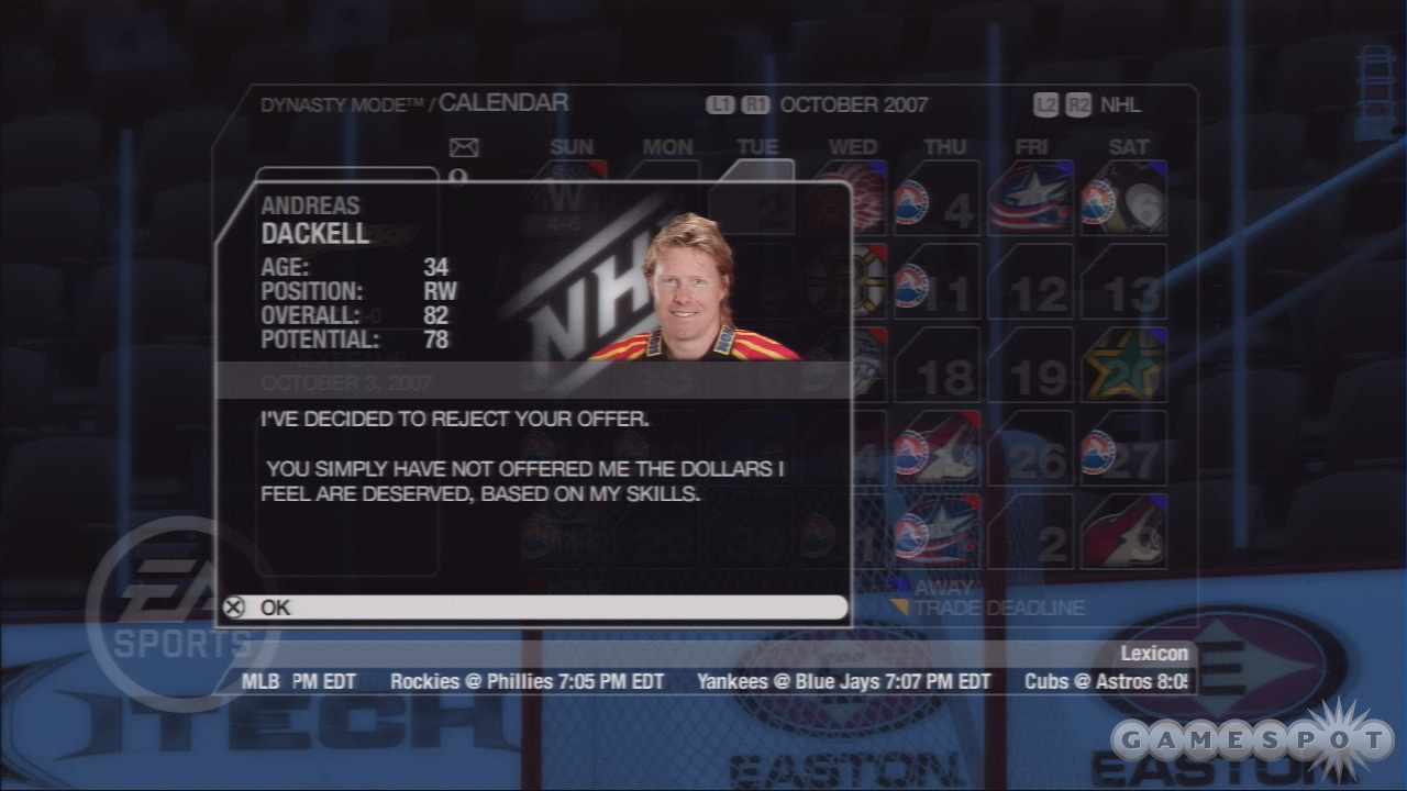 Signing players in dynasty mode actually works correctly now.
