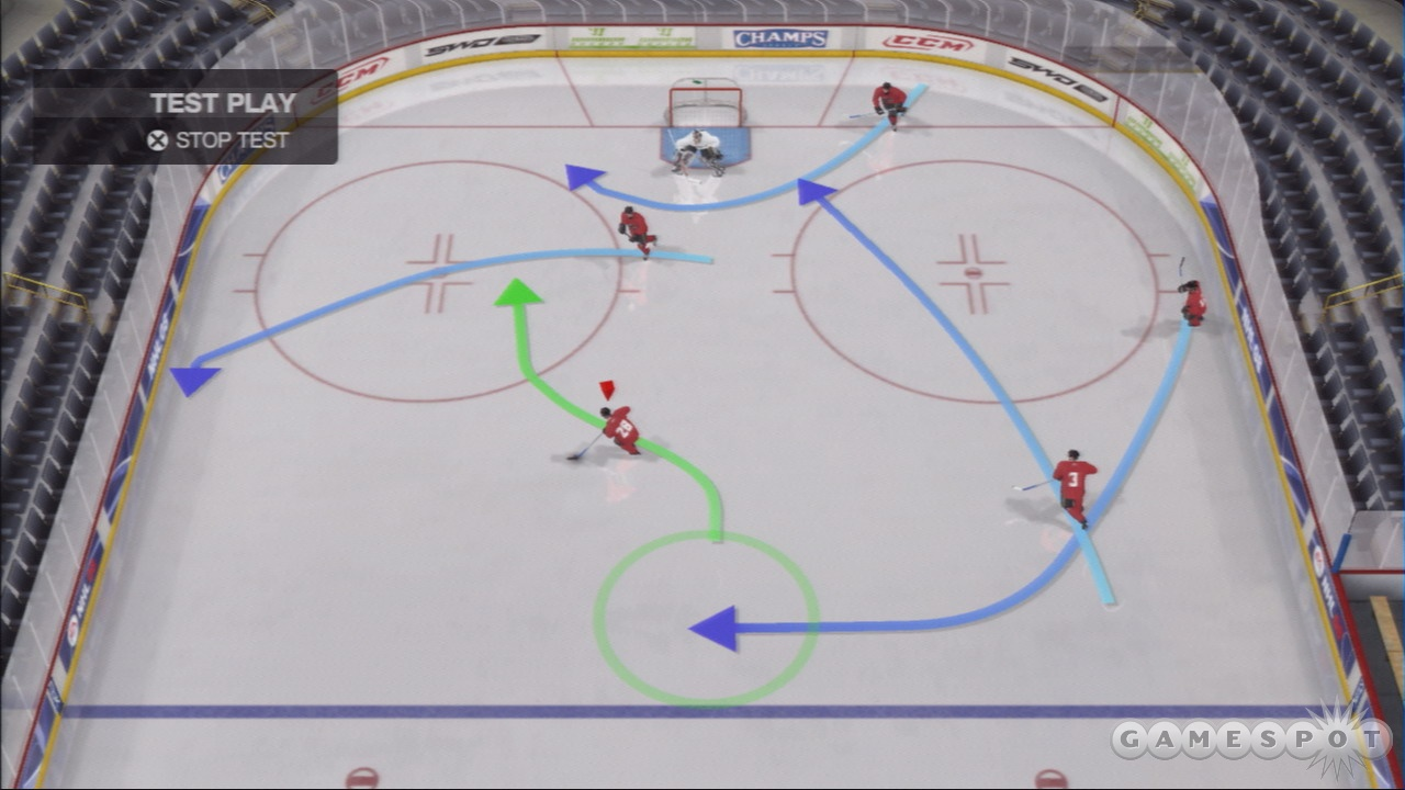 Creating plays and putting them into action on the ice is a blast.
