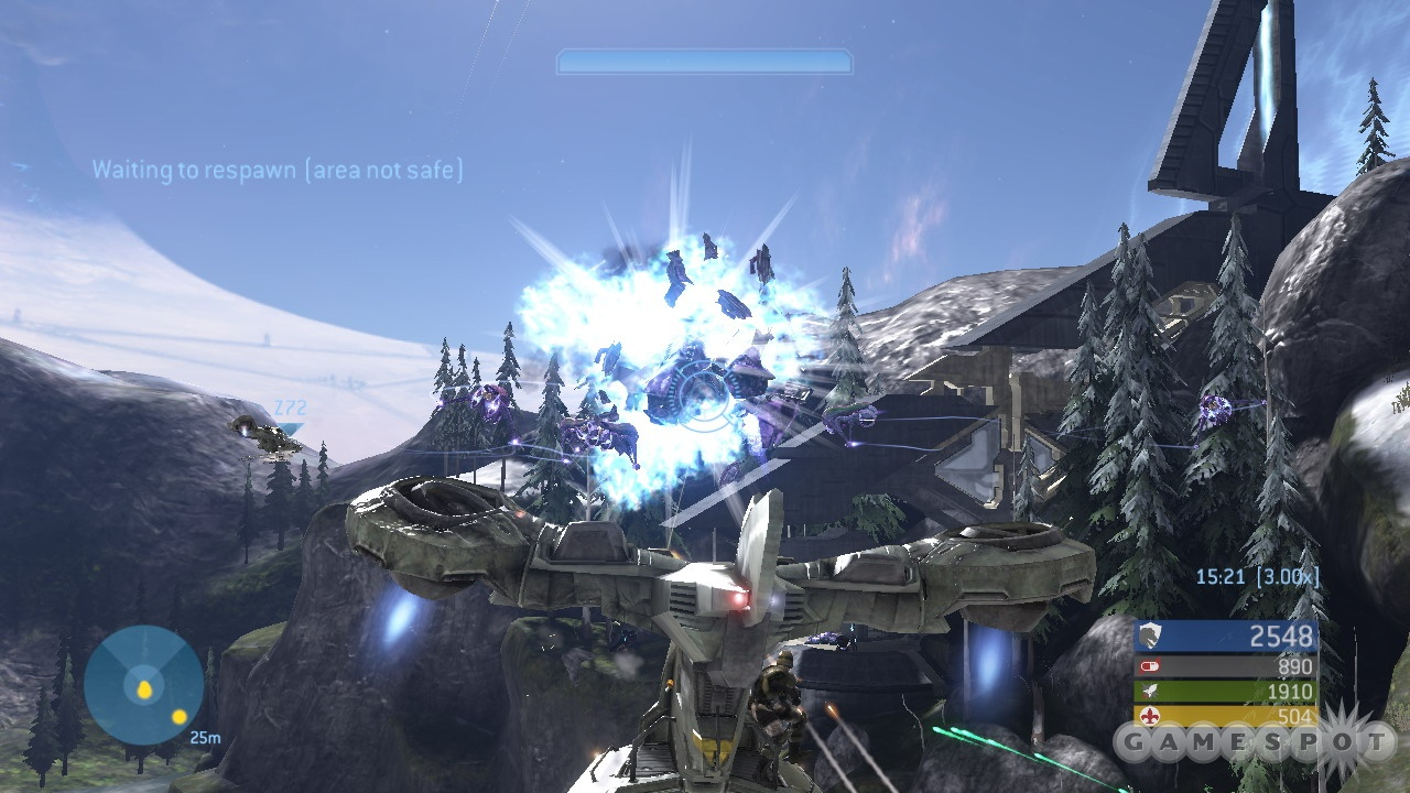The audiovisual portion of Halo 3 is definitely impressive, with great art, sharp effects, and terrific music.