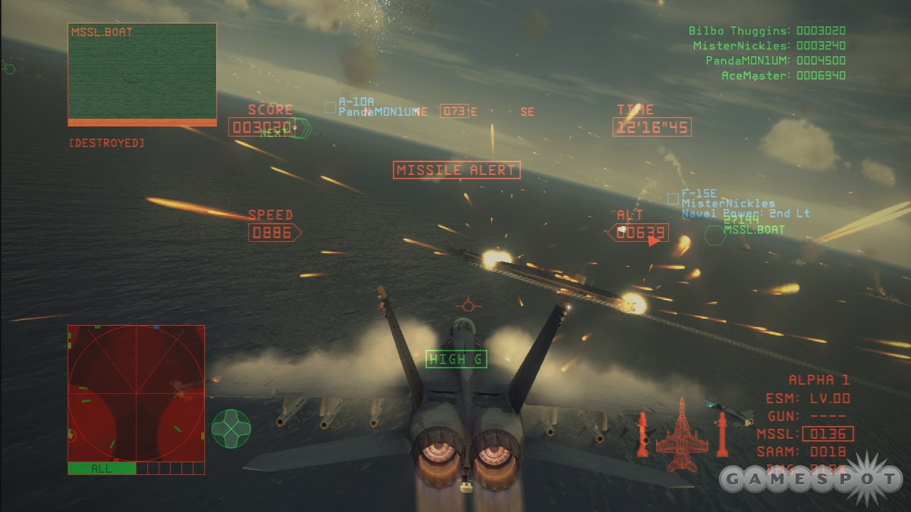 Just another day in the office. It won't take long for the action to get hot and heavy in Ace Combat 6.