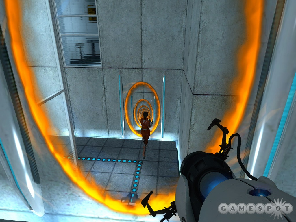 Portal can be a real mindbender, so stop and think about what you're doing before you do it.