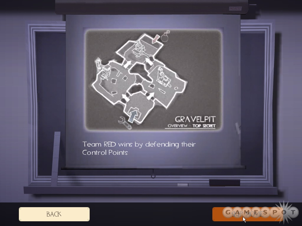Each Team Fortress 2 map has a little intro movie to show you the ropes.