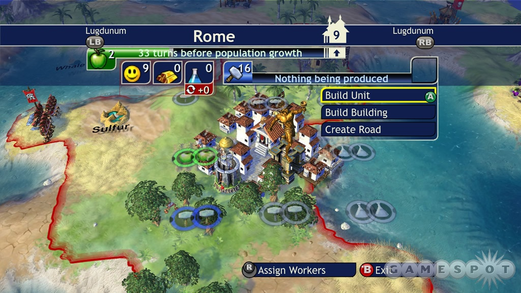 Rome can rise and fall in a single game of Civilization Revolution.