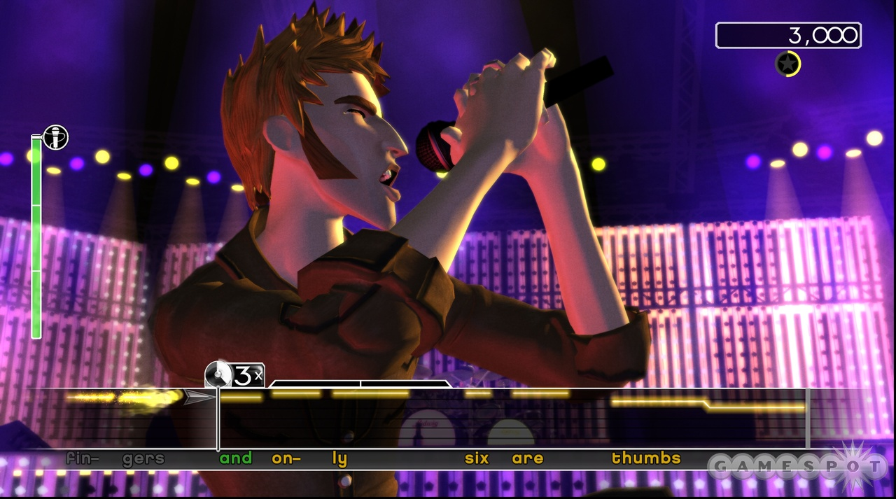 If you've ever played a Karaoke Revolution game, the singing mechanics should be immediately familiar.