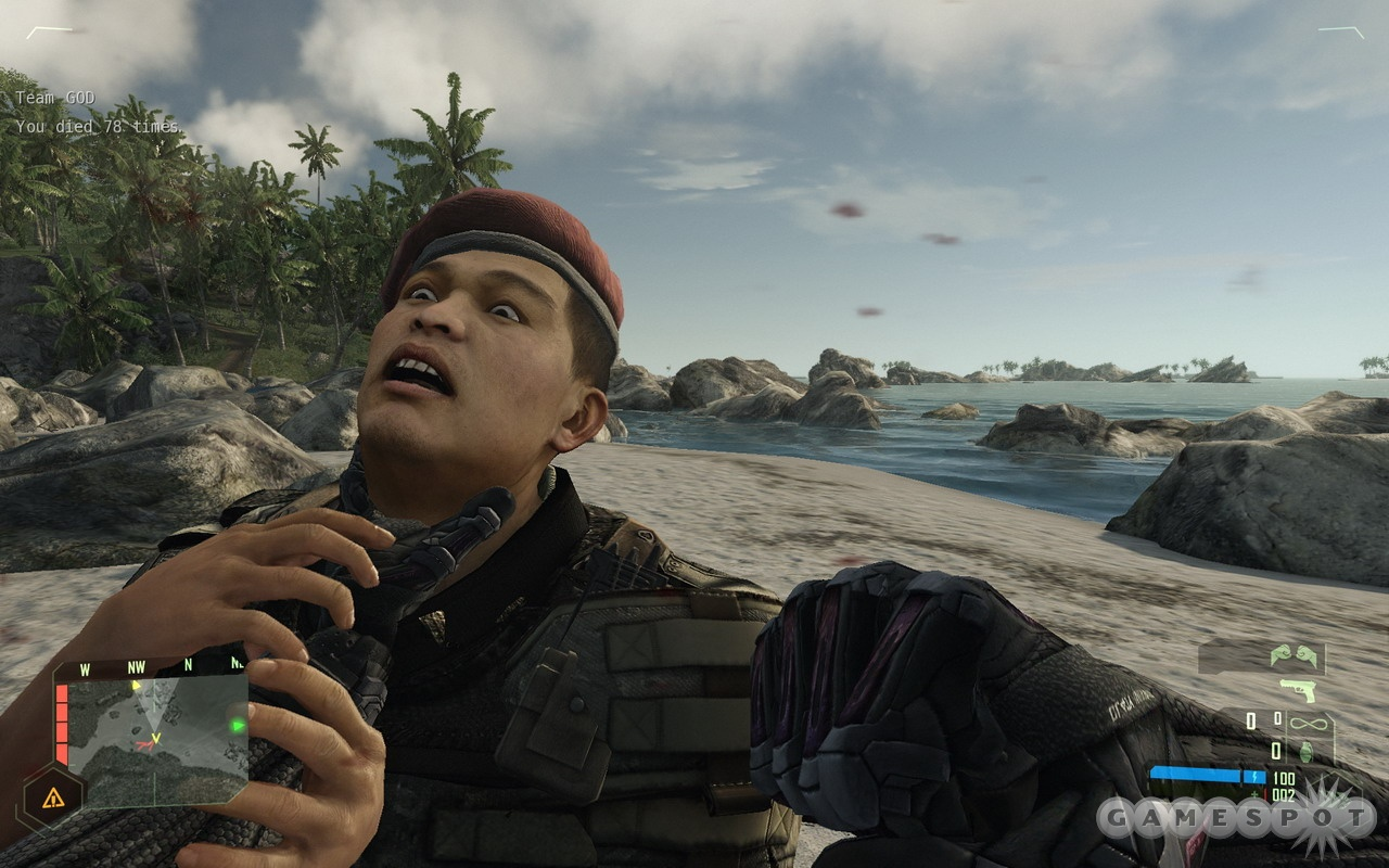 Sure, you can shoot guys in Crysis, but grabbing by the throat is always a treat.