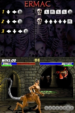 Ultimate Mortal Kombat 3 is one of the best fighting games of the 2D era, and it still plays well on the DS.