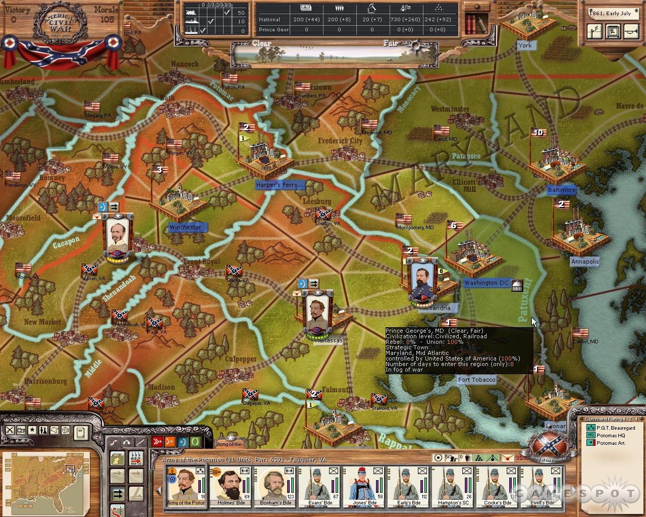 The First Battle of Bull Run, as seen through American Civil War.