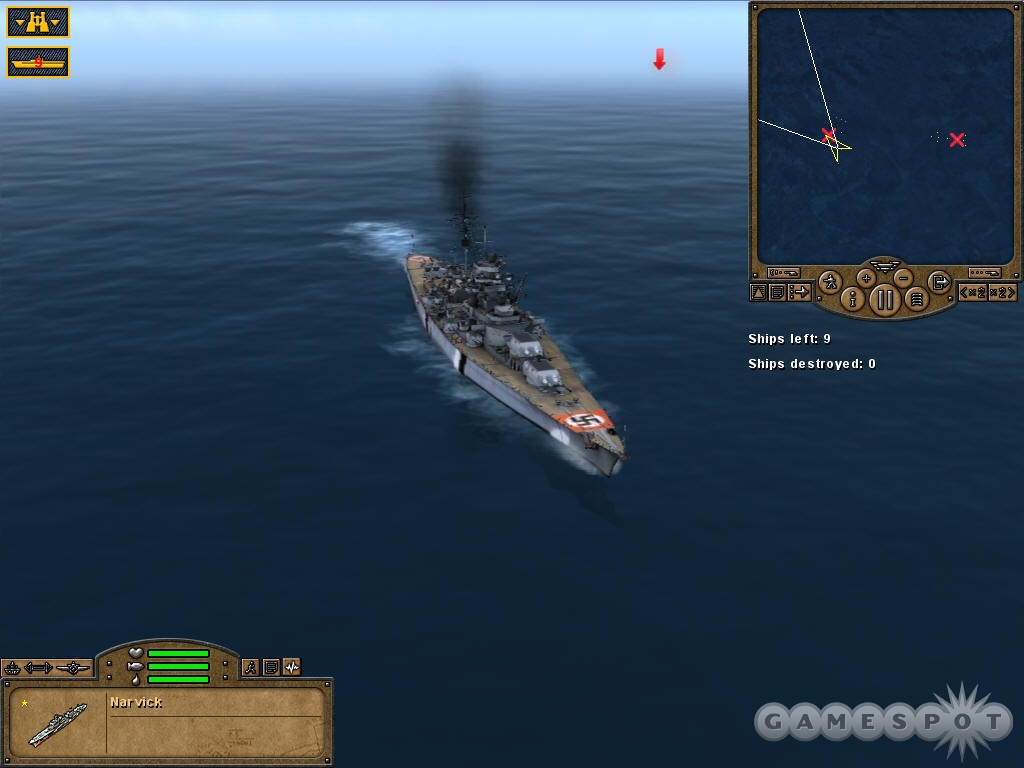 German warships in the Pacific are something of a historical liberty taken by the game.