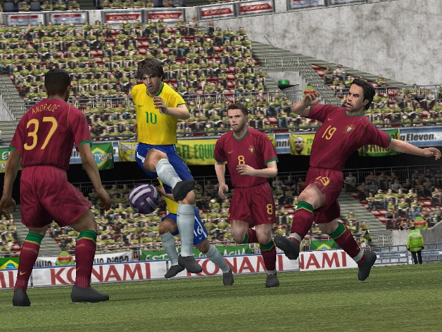 The PS2 version of Pro Evo 2008 manages to better the PS3 and Xbox 360 games in every respect.