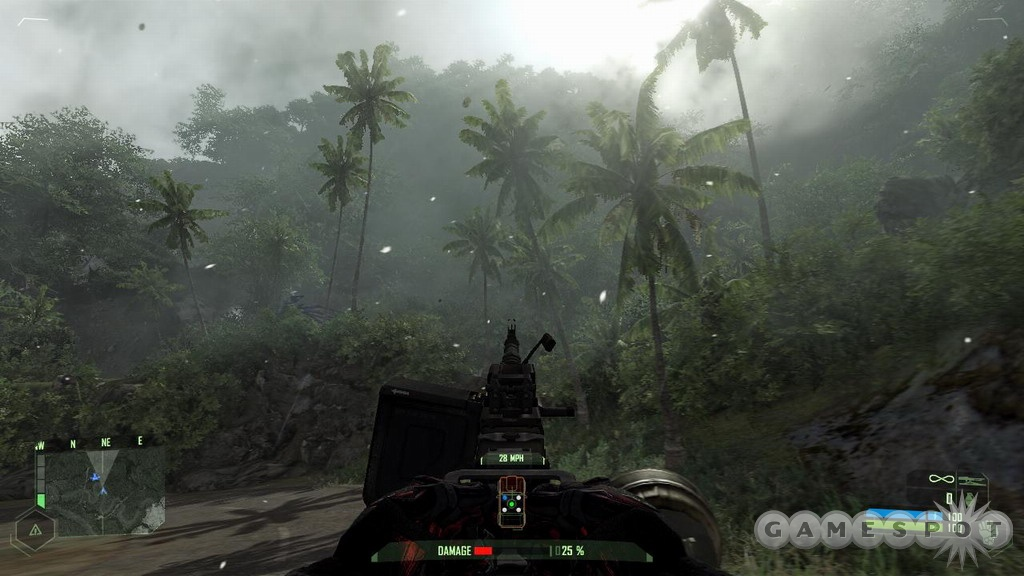 Welcome to the prettiest jungle that you have ever seen in a game. Notice that it's starting to snow?