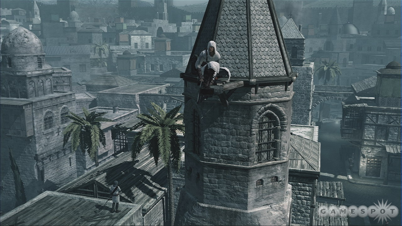 Climb to the pinnacle of a tower for a bird's-eye view.