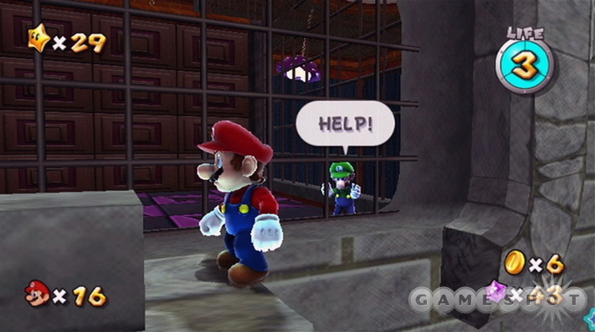 Stern Mario helps those who help themselves.