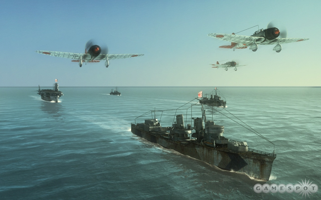 In U-Boat Missions, you'll have air support as well as surface vessels helping you out.