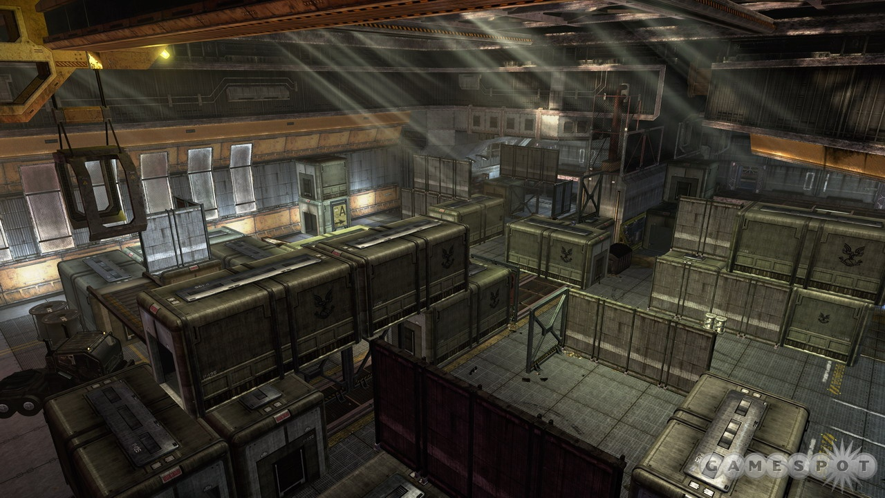 Foundry is a very tight map in its default state, but it can be completely stripped out and made into an open warehouse.