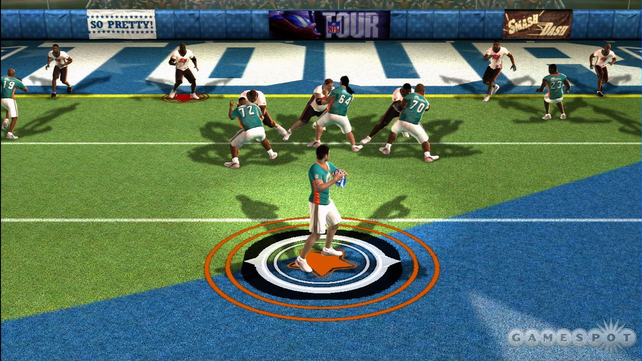 How is this different from NFL Street? It's totally different! They play on a field now!