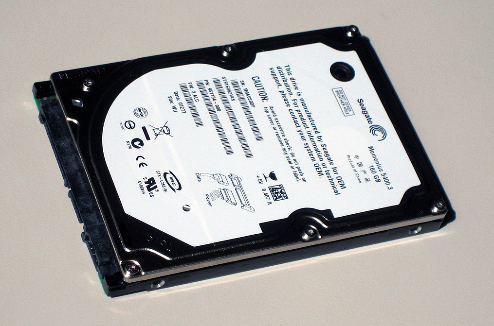 Hard-disk manufacturer Seagate supplied us with a 160GB Momentus 5400.3 for our upgrade.