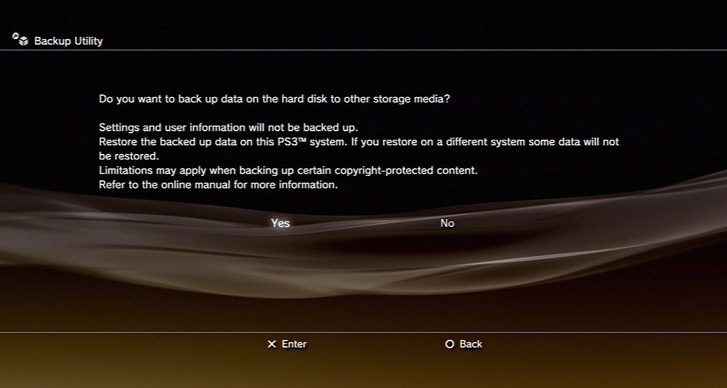 Save your data using the PS3's backup utility.