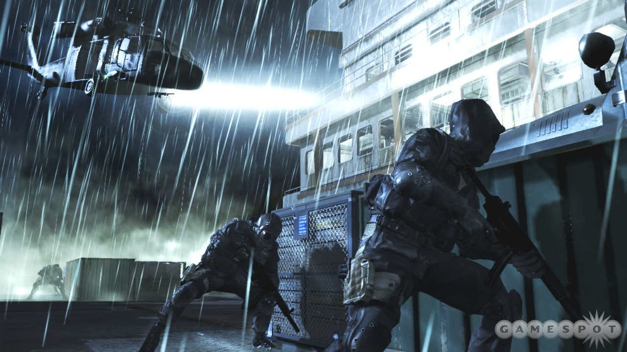 It was a dark and stormy firefight.