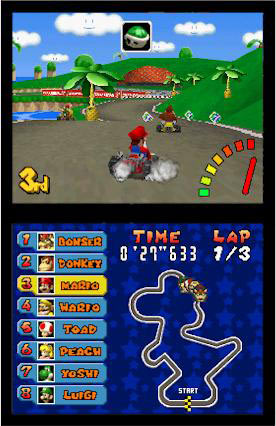 Snaking in Mario Kart DS is a skill. Right?