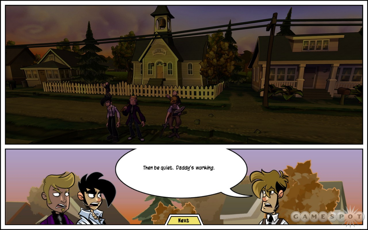 Admire the comic book-style paneling of the game.
