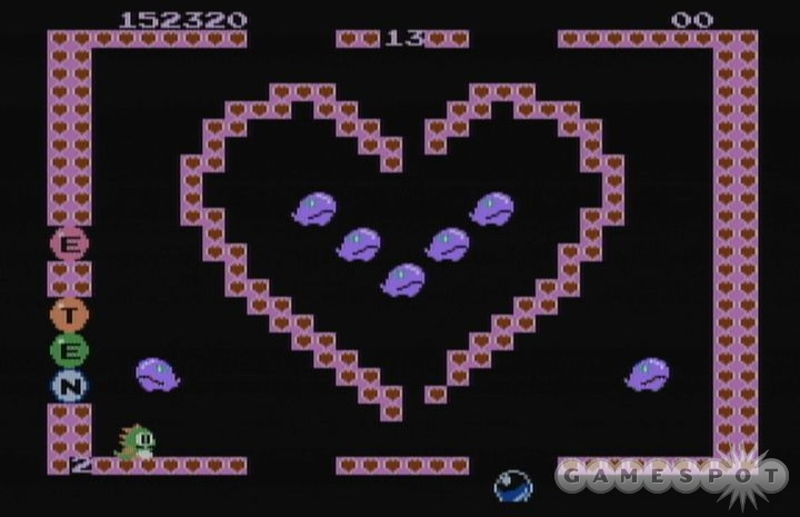 You can make a Valentine's Day card out of this sugarcoated level design.
