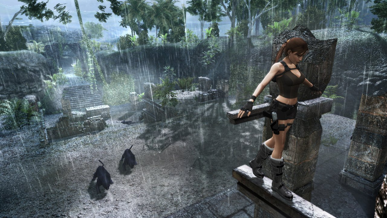 Lara brings new tricks to the Underworld, including wall-climbing, beam-vaulting, and abseiling.