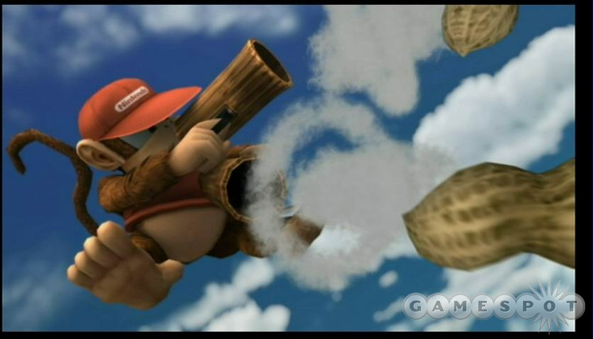 In the Subspace Emissary, characters like Diddy Kong can show off their moves in glorious cutscenes like this.