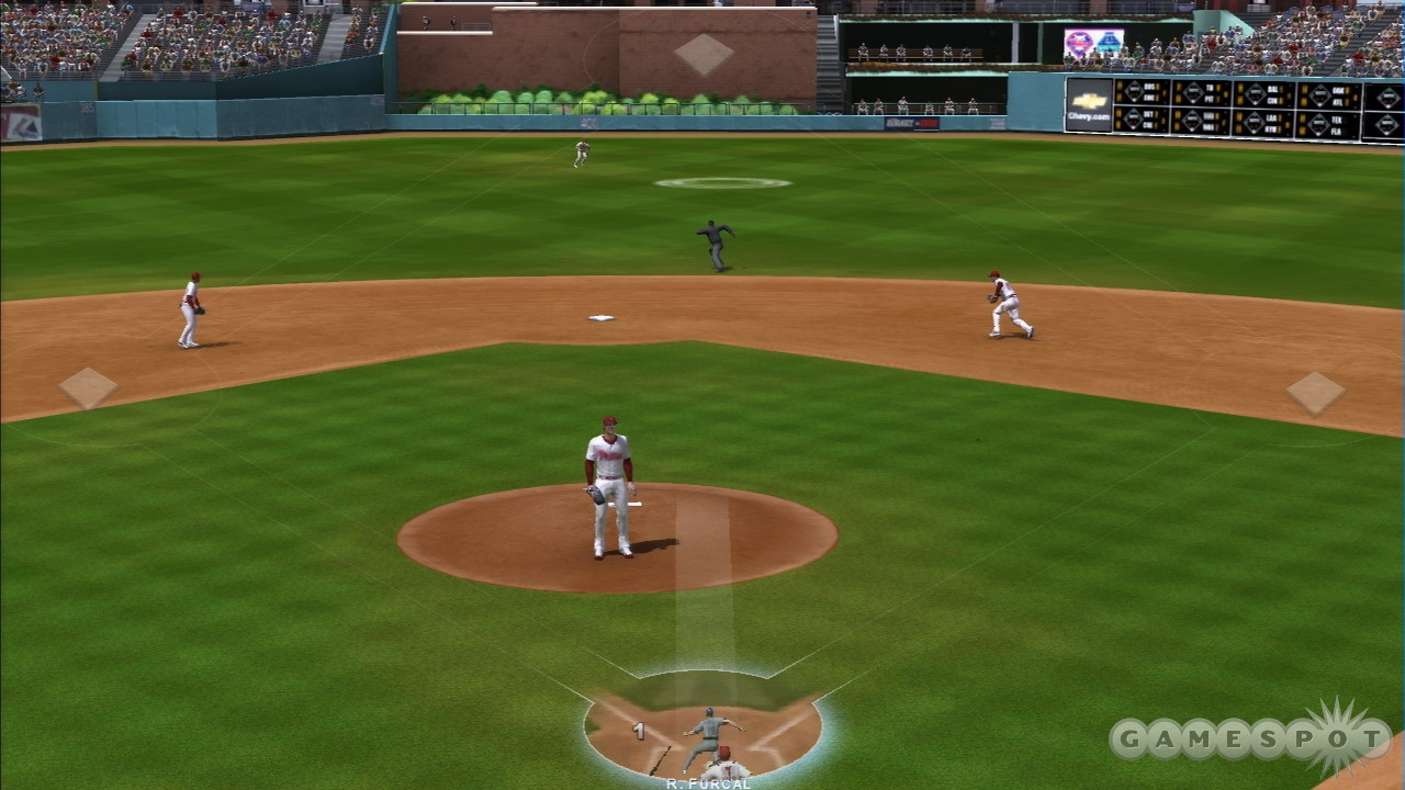 The poor frame rate makes fielding difficult.