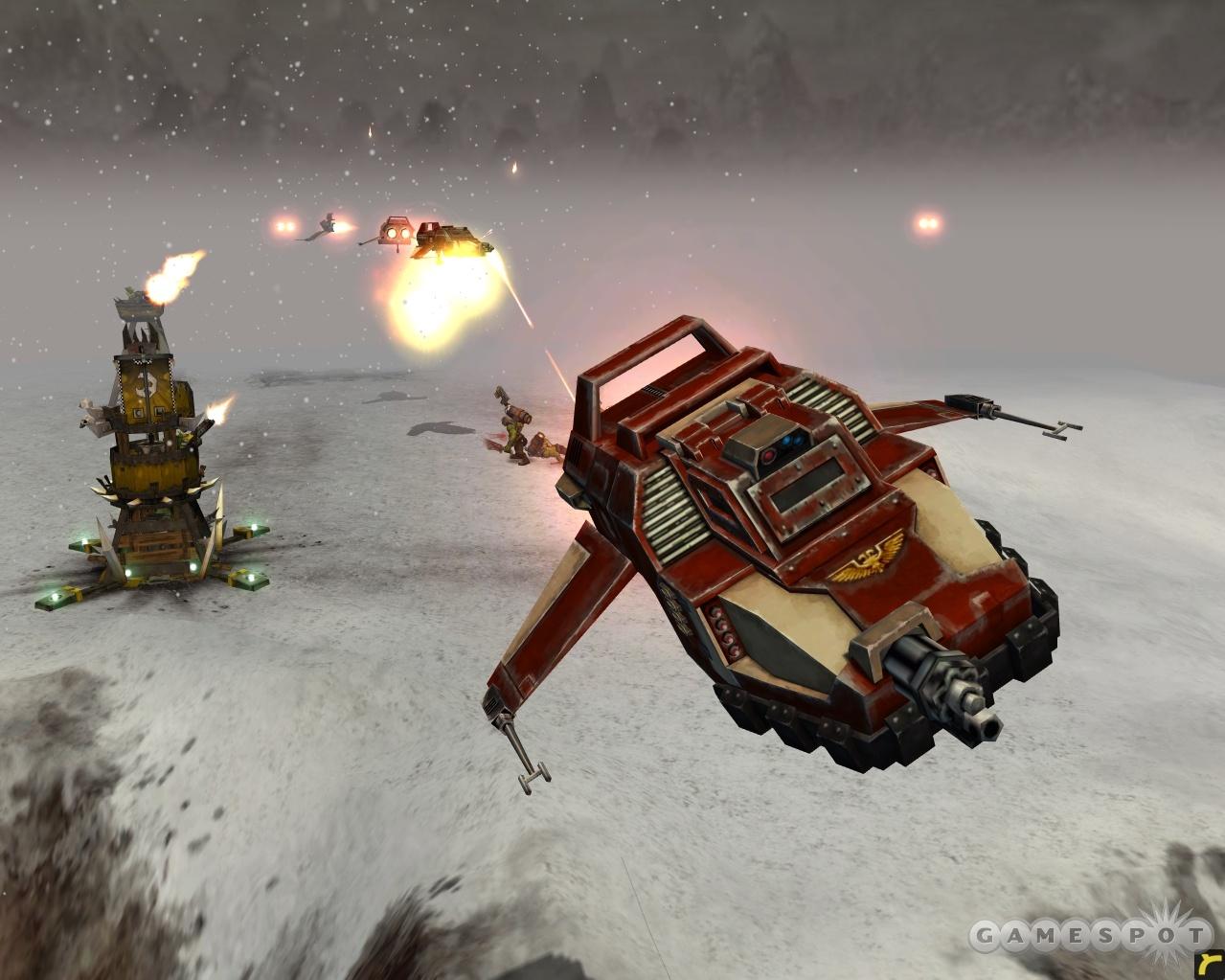 The Space Marine Land Speeder Tempest.