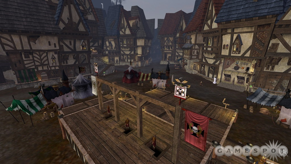 This is the market square of Altdorf, in the center of the city. There's going to be a really large amount of content in Altdorf alone.