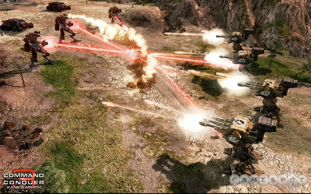 Goliath artillery can rain down devastation.