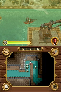 The controls work well--you turn the ship using the D pad and move using the shoulder buttons.
