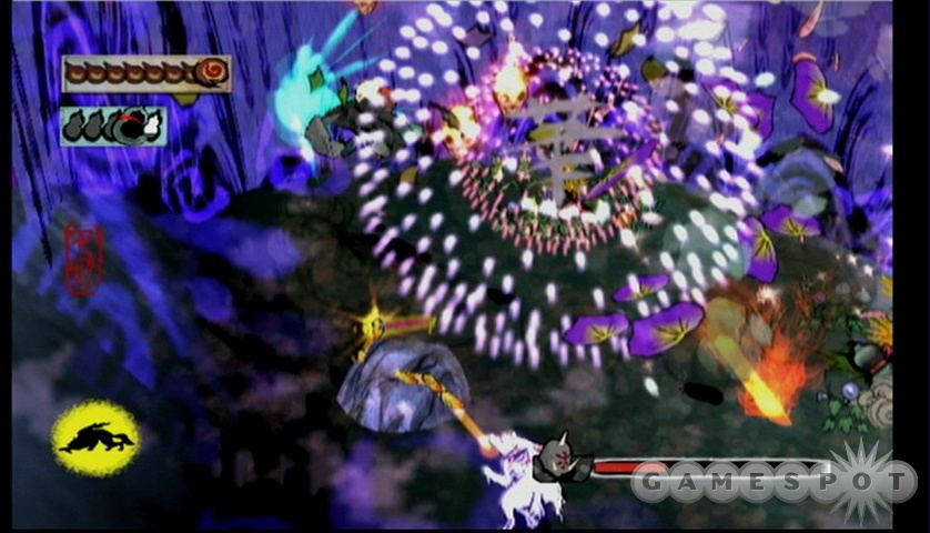Even during combat, Okami's visuals will take your breath away.