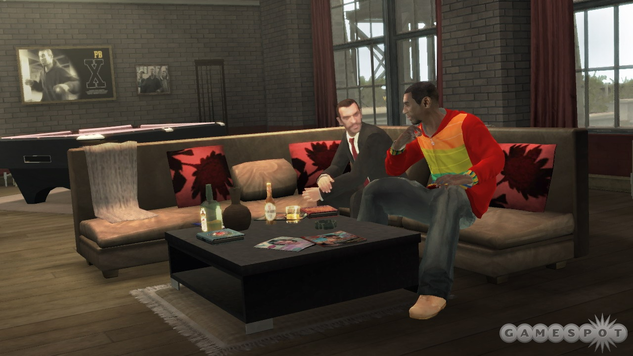 GTAIV's friends invariably come with benefits.