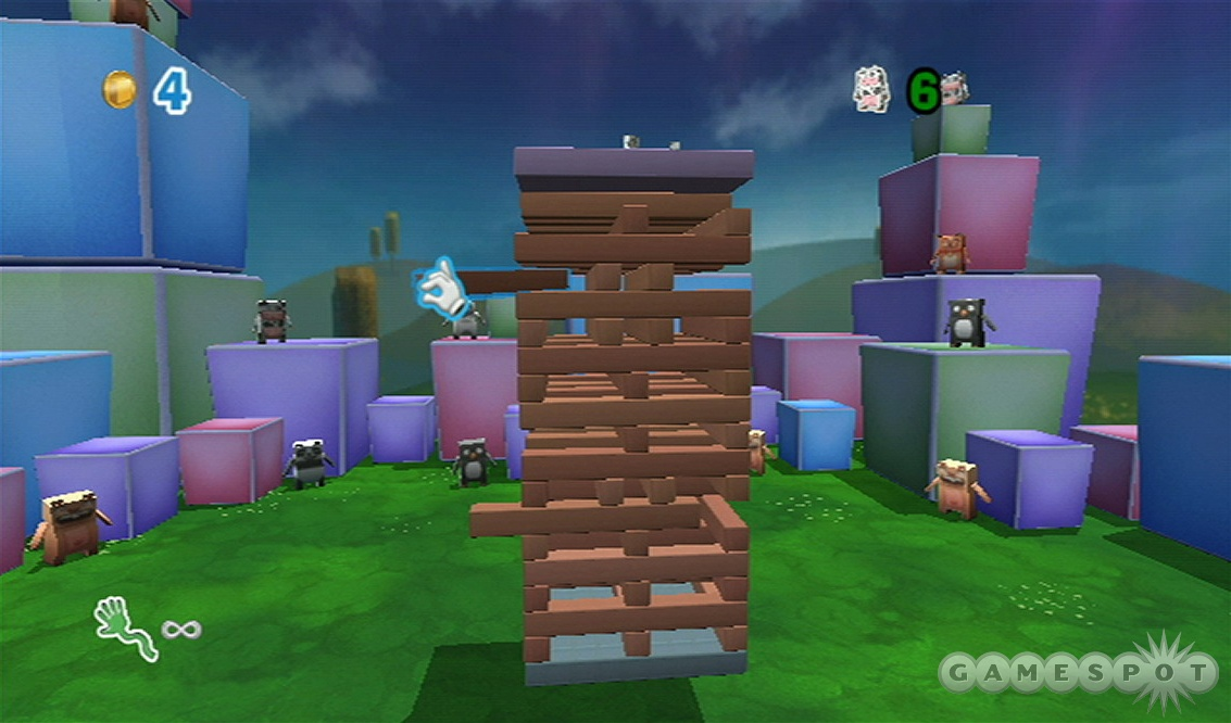 Boom Blox has some similarities to Jenga, but there's more to it.