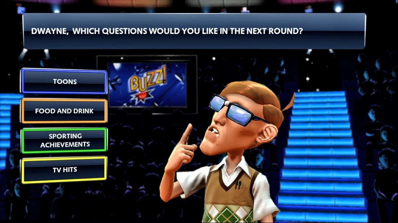 Quiz TV includes a wide range of interesting questions and characters.