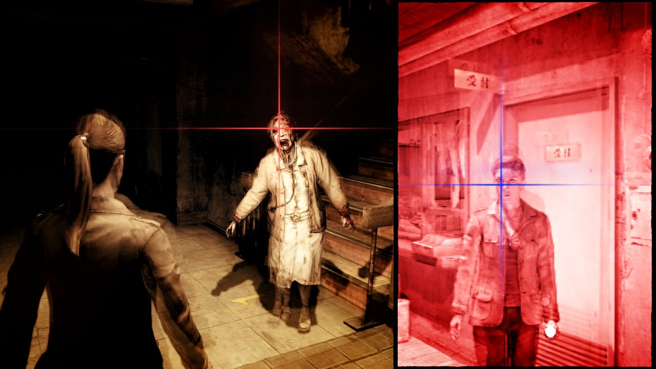 The sightjacking system is a big part of what makes Blood Curse so scary.