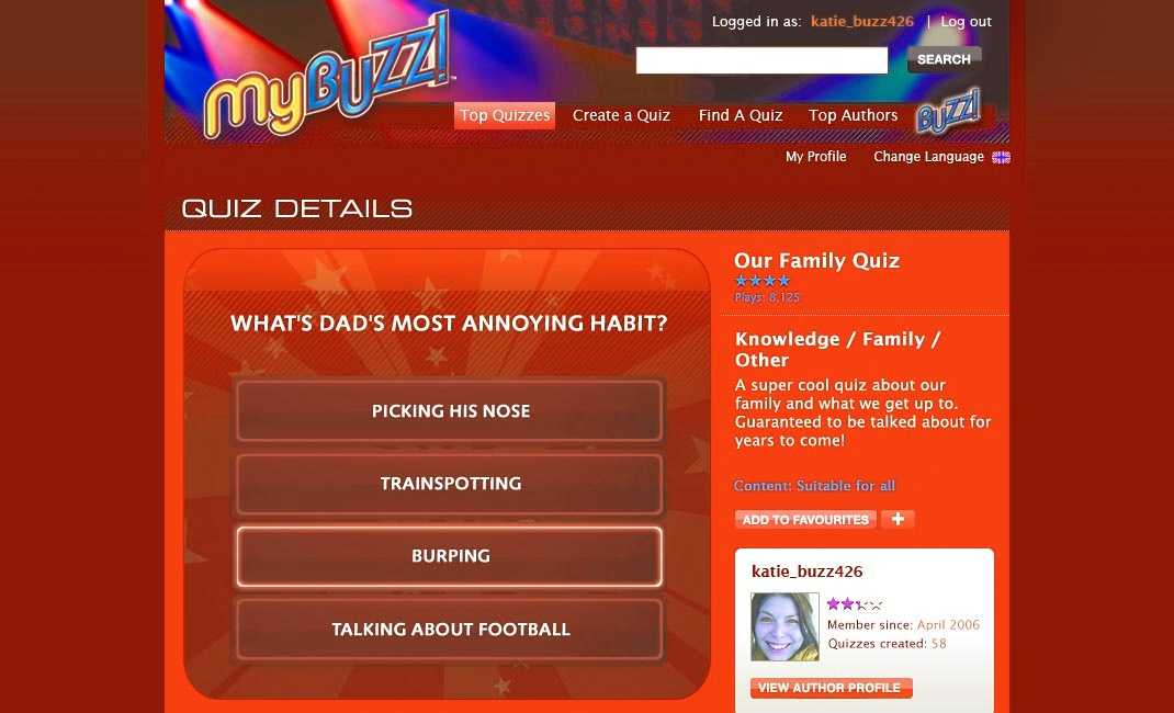 Quiz TV lets you create your own quizzes and play ones created by others with MyBuzz.