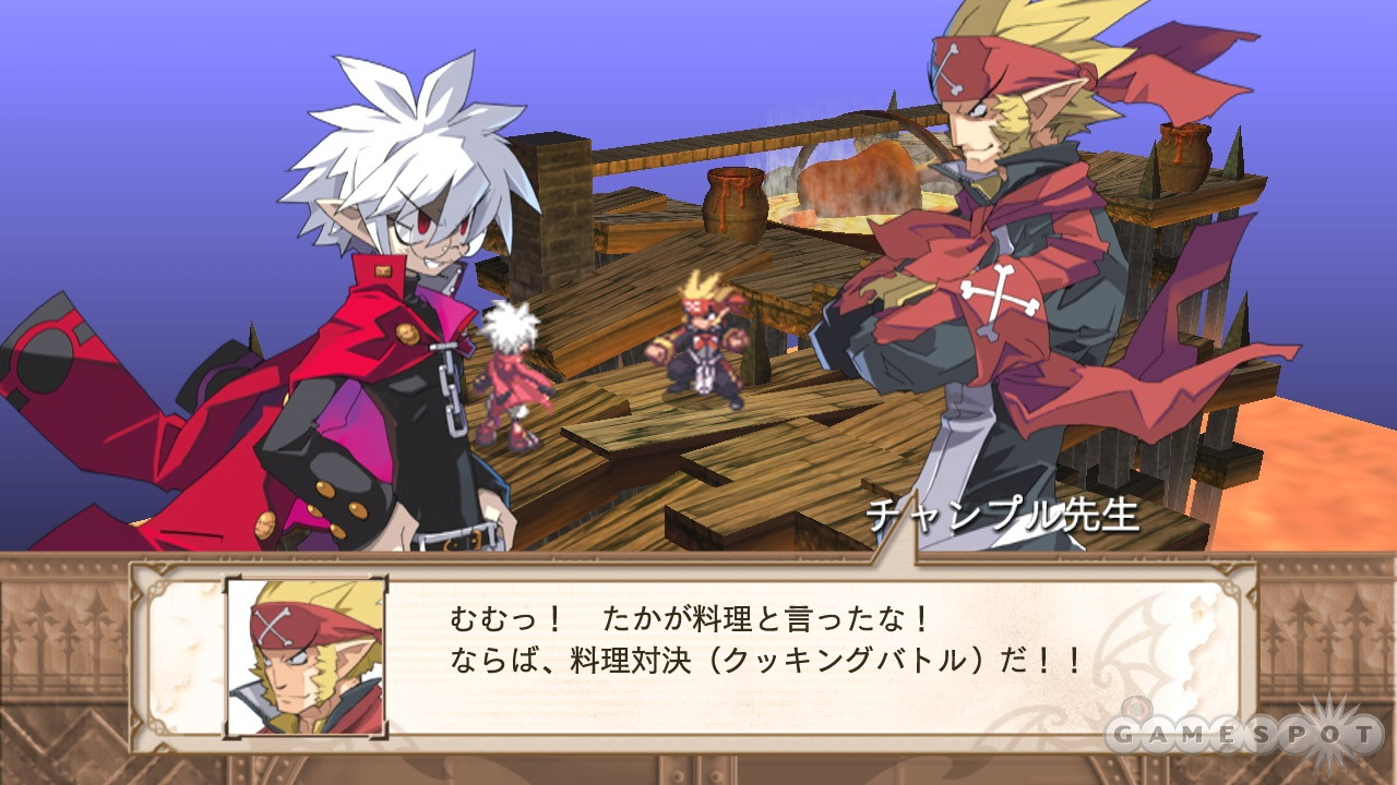 Mao (left) is one funny little demon, and so are the characters he encounters.