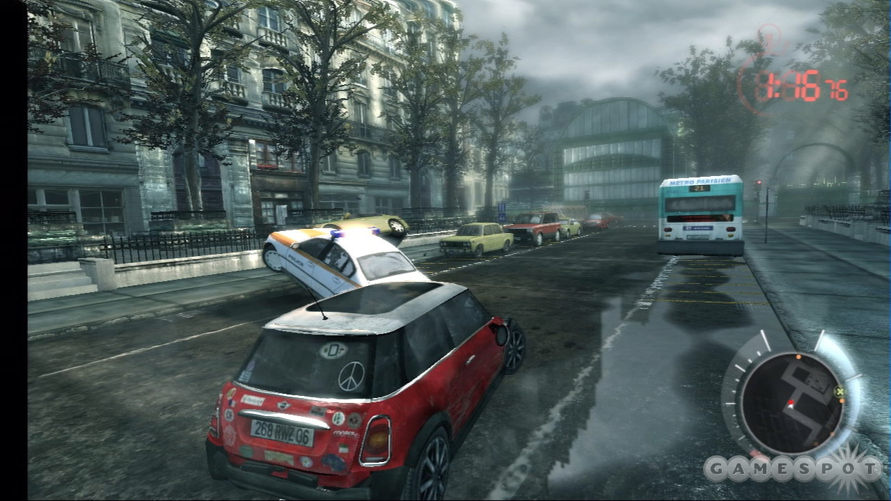 The car chase through the streets of Paris is a bit bland, but serves as a nice change of pace.