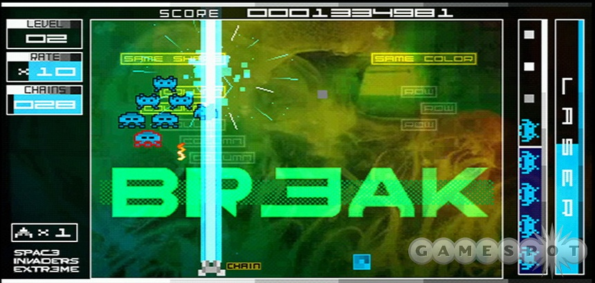 The core Space Invaders experience is intact, but you'll need some skills to get really high scores.