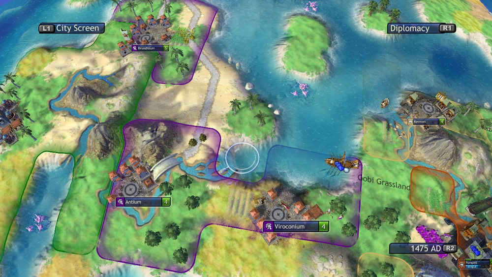 Tensions begin to run high as civilizations compete for territory.