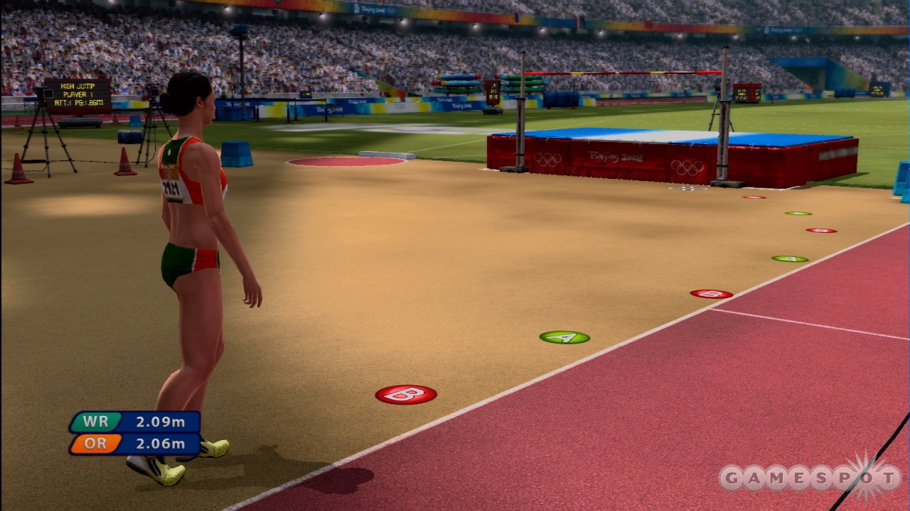 The high jump is just a simple rhythm game here.