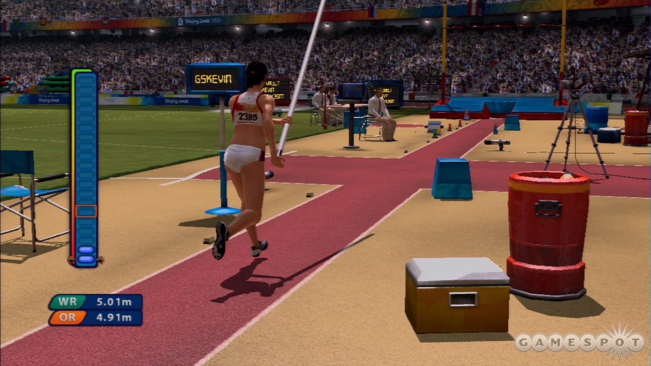 The pole vault requires rapid button presses, too!